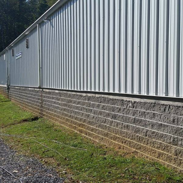 Foundation Cleaning Before Photo Cleaning Mercer County, West Virginia