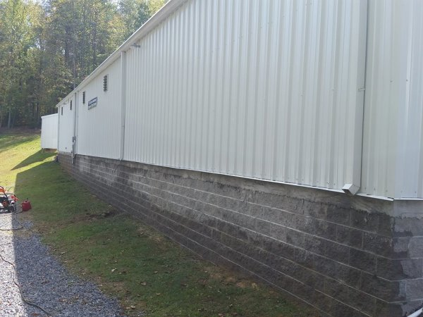 Foundation Cleaning After Photo Cleaning Mercer County, West Virginia