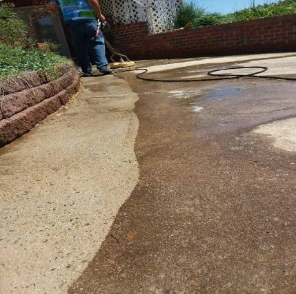 Before Concrete Cleaning Wytheville, VA