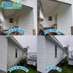 Before and After House Washing Princeton, WV